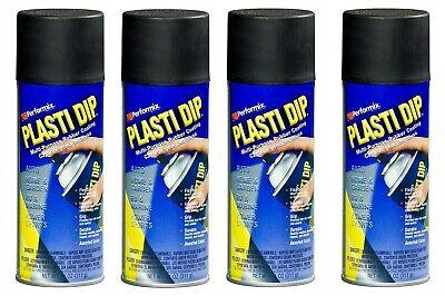 4 Plasti Dip Black Matte Liquid Wrap Removable Rubber Coating Aerosol Can
