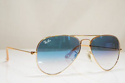 RAY-BAN Mens Womens Sunglasses Gold Pilot AVIATOR 58mm BLUE RB 3025 001/3F 26554