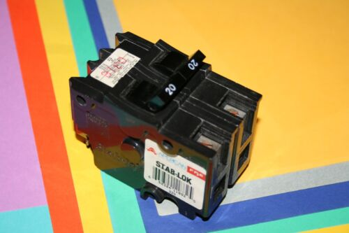 FEDERAL PACIFIC AMERICAN BRAND 20 AMP 2-POLE TYPE NA BREAKER WIDE