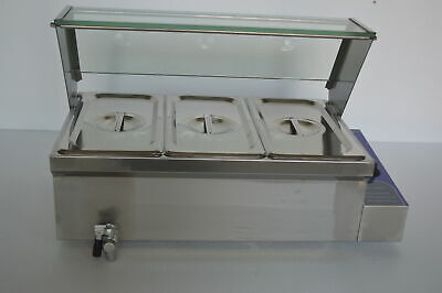 Techtongda 3-pan Food Warmer Countertop Steam Table 110v 1500w Us Seller