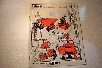 Vintage 1972 Desa Construction Equipment Catalog Desa Industries Inc Power Prod.