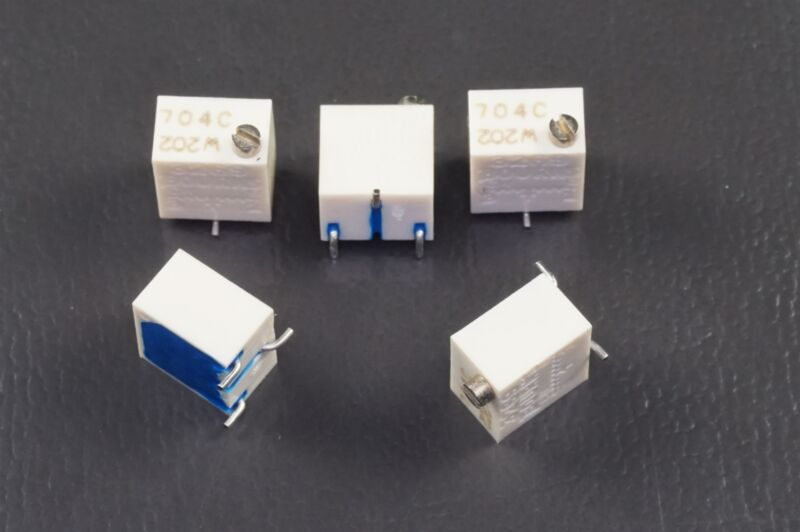 """Lot of 43269W-1-202 Bourns 1/4"""" Trimpot Trimming Potentiometer 2k Ohm 10% NOS"""