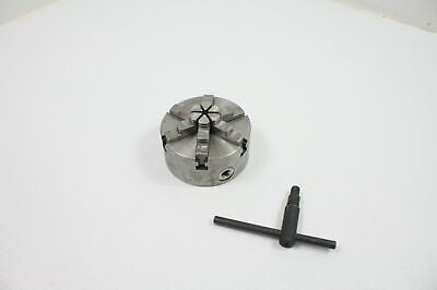 Hhip 3900-4552 Metal 6 Jaw Self Centering Plain Back Lathe Chuck 5 Diameter