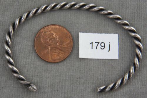 Vintage Navajo Twisted Wire Sterling Silver Bracelet