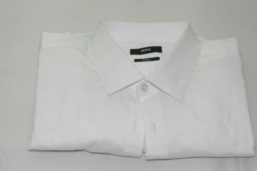 $135 NWOT Hugo Boss Slim Fit French Cuff Buttonless Tuxedo Shirt 16 1/2 - 34/35