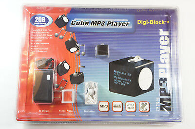CUBE MP3 PLAYER, DIGI-BLOCK, 2GB MUSIC STORAGE, NEW IN SEALED PACKAGE Cube Mp3
