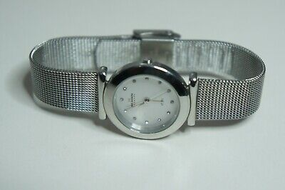 SKAGEN Denmark Classic Mesh Band With Dial With Crystal Markers 107SSSD (Skagen Ladies Classic Mesh)