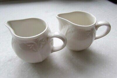 Pair Villeroy & Boch White Porcelain Creamer Made In Germany White Ivory Off-WHT