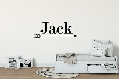 PERSONALIZED NAME WITH ARROW Vinyl Wall Art Decal Kids Children Nursery Room