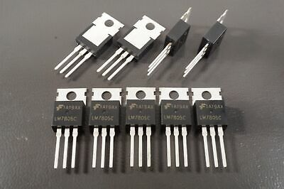 Lot of 9 MC7805CT Fairchild Linear Voltage Regulator Positive 5V 1A TO-220-3 TH