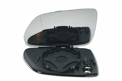 VW POLO MK 4 2005-2009 WING MIRROR GLASS ASPHERIC HEATED LEFT
