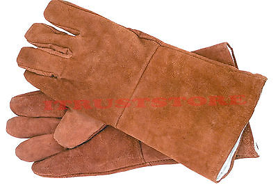 Pair Of Leather Welders Long Work Workgloves Gloves For Welding