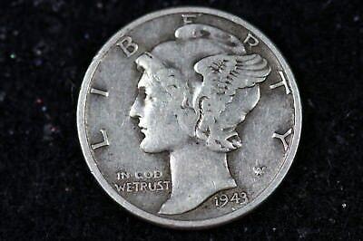 Estate Find 1943 -  Mercury Dime!!!!   #H9212