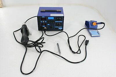 Bacoeng 2in1 Smd Soldering Station 862d Blue W Hot Air Gun Missing Accs