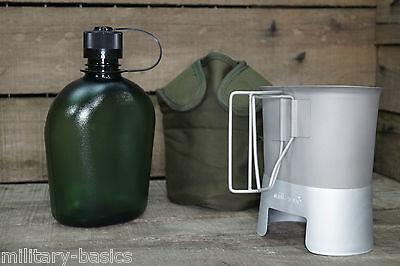 US Feldflasche Gen.II Molle Canteen cup Feldflaschenbecher Kocher oliv NEU Army