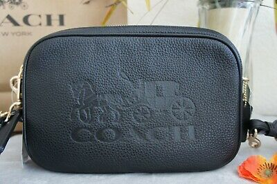 NWT Coach F75818 Jes Crossbody Shoulder Bag Purse Handbag Black $328
