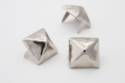 5/8 inch 16mm silver pyramid studs for clothing - Bag of 100 - StudsAndSpikes