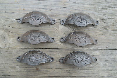A set of 6 classic Victorian Kenrick cast iron drawer pull handles handle CH2
