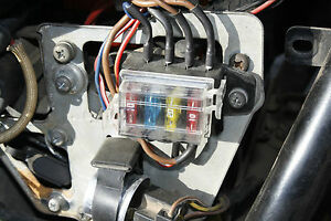 Motorcycle fuse box