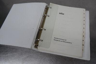 Älteres BRAUN Rezeptbuch und Küchenmaschinen Bedienungsanleitungen ca. 200Seiten