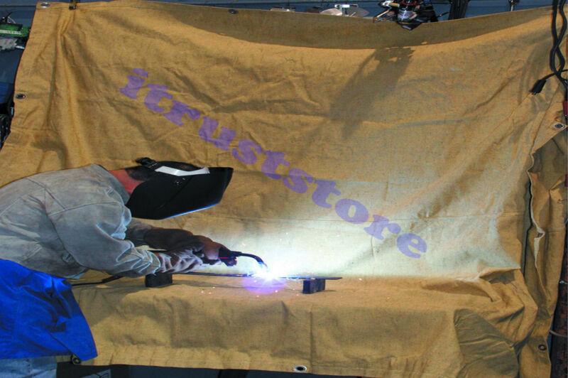 WELD SPARK SPATTER FLAME RETARDANT FIBERGLASS WELDING BLANKET TARP COVER SHEET