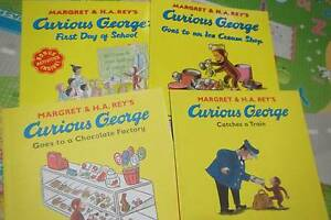 Curious George Books x4 soft cover baby toddler read Kids Ferntree Gully Knox Area Preview