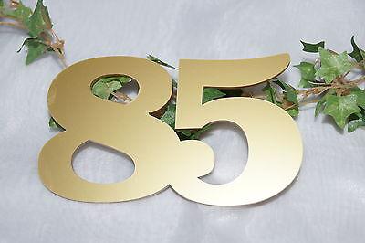 Tischdekoration Jubiläum  Geburtstag Jubiläumszahl 85 gold
