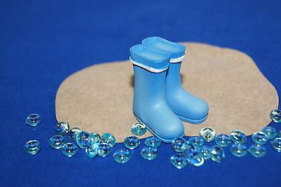 Tischdekoration Sommer Sonne Strand maritim Mini Gummistiefel Stiefel blau