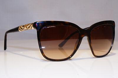 BVLGARI Womens Diamante Designer Sunglasses Brown Square 8142 504/13 19143