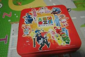 Kids ABC Tv show CD or DVD storage Case Tin wiggles play school Ferntree Gully Knox Area Preview