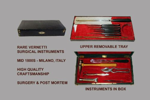 Antique Vernetti Aputation & Post Mortem Kit Mid 1800