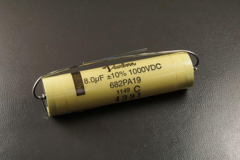 682PA19 Dearborn Film Capacitor 8.0uF 10% 1000VDC Metalized Polypropylene NOS
