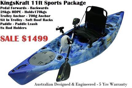 Kings kraft pedal kayak 5yrs warranty AUS Designed engineered