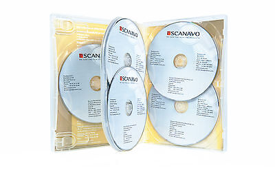 NEW! 1 Scanavo Premium 7-Disc DVD Case 22mm Clear - Holds 7 discs