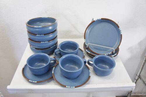 DANSK International MESA Blue Lot Salad Coffee Saucer Salad Portugal 14 pieces