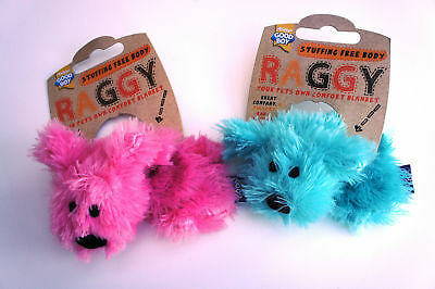Good Boy Dog Toy - Raggy Puppy Unfilled No Stuffing Comfort Blanket Pink Or Blue