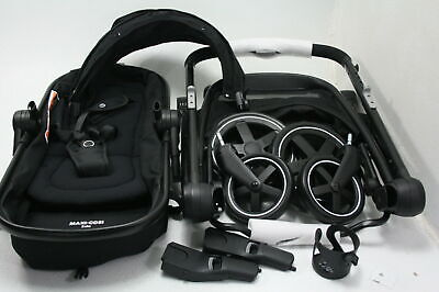 Maxi-Cosi Zelia 5-In-1 Modular Travel System w Stroller Car Seat Night Black