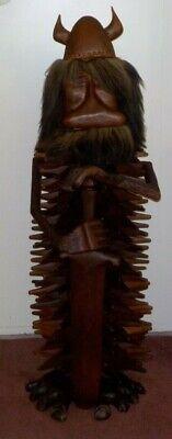 Danish Modern Knud Albert Denmark 53 Inch CARVED Sculptor Figure Ross Wood RARE