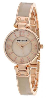 Anne Klein Women's Quartz Stainless Steel/Grey Tort Watch AK/2912BHRG