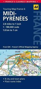 6. Midi-Pyrenees: AA Road Map France by Aa Publishing (Sheet map, folded, 2014)