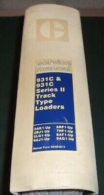 Cat Caterpillar 931c Track Type Loader Service Shop Manual Ag 2bj 5lg 8af 6rf