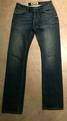 SUPERDRY OFFICER JEANS  MEN'S  FADED BLUE STRAIGHT LEG DENIM JEANS W29 X  L32