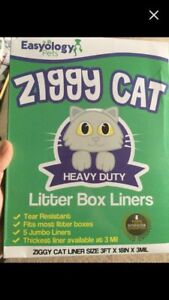 3 boxes litter box liners