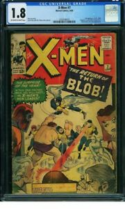 X-Men #7 1964 CGC 1.8. 2nd Blob and Jack Kirby cover and Art