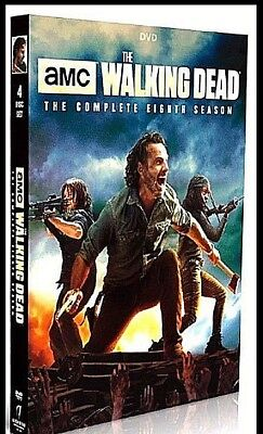 The Walking Dead  Complete Season 8 Dvd Set 2018  Usa Seller