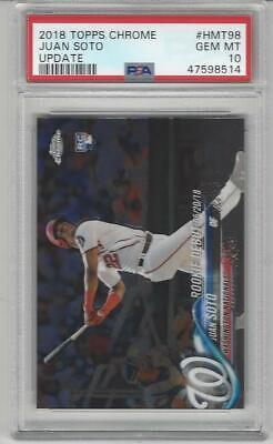 2018 Topps Chrome Update Baseball HMT98 Juan Soto Rookie Debut Graded PSA 10