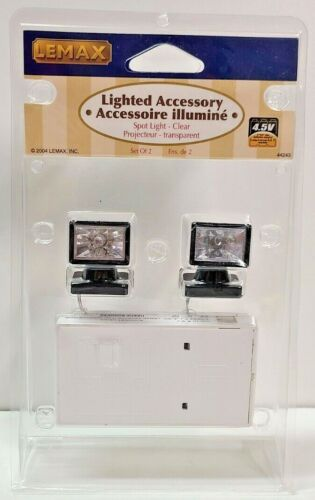 Lemax Lighted Accessory Set of 2 Spotlights Clear