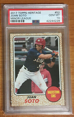 2017 Topps Heritage Minor League #52 JUAN SOTO Rookie Card Gem Mint PSA 10
