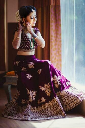 Bollywood Indian Wedding Heavy Velvet Lehenga Choli Party Ethnic Lengha Choli