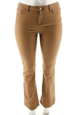 Denim & Co 5 Pocket Colored Slightly Bootcut Jeans Chestnut 16 New HSN QVC